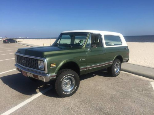 1972 chevy k5 blazer 350 auto for sale in new orleans louisiana 21 500. Black Bedroom Furniture Sets. Home Design Ideas